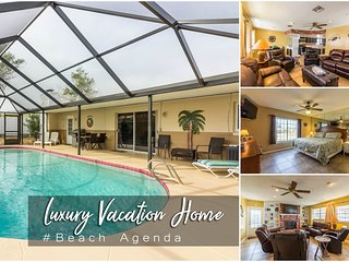 Nov Specials! 'Beach Agenda' - Luxury Heated Pool Home - 3BR/2BA