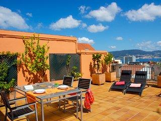 Atico en el centro de Vigo con terraza privada y vistas sobre la Ria