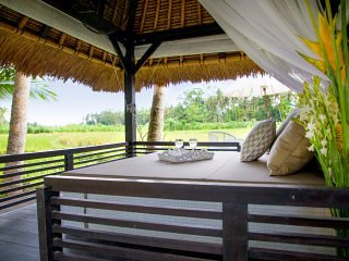 Relax in your bale overlooking the rice paddies