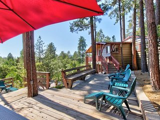 NEW LISTING! Cozy mountain home with three decks - dogs OK!