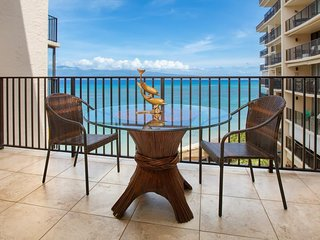 Oceanside condo with stunning views and shared pool moments from beach!