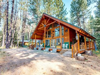 NEW LISTING! Secluded cabin w/ five acres, mountain view & firepit - 2 dogs OK!
