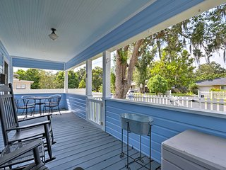 You'll love relaxing on the front porch of this adorable cottage.