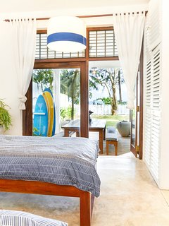 Kids room looking out to the ocean with private ensuite.
