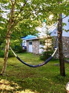 Relaxing hammock.