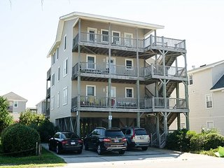 Enjoy ocean and sound views from two different decks and a short walk to pier
