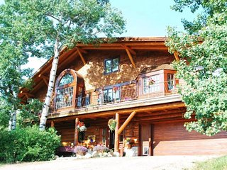 Charming dog-friendly cabin with fireplace, large deck, and beautiful views