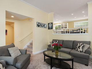 The open concept living area is spacious and comfortable.