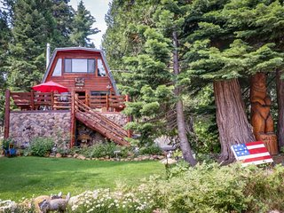 NEW LISTING! Bright log cabin surrounded by California pine w/ private hot tub