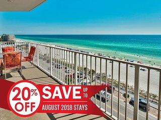 20% OFF Aug! GULF VIEW Deluxe Beach Condo * Resort Pool/Spa + FREE VIP Perks!