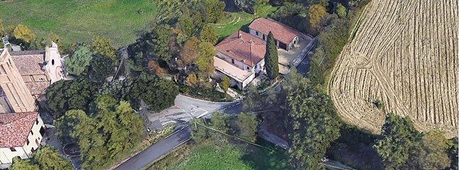 La casa vista desde arriba