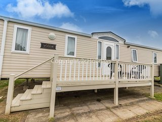 6 berth caravan with decking, C/H & D/G. At Manor Park Holiday Park. REF 23051S