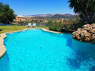 Villa Reina del Rio, luxury, rural, 18p, centrally between Sevilla and Ronda