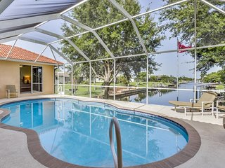 NEW LISTING! Beautiful home on the canal w/pool & dock -convenient location