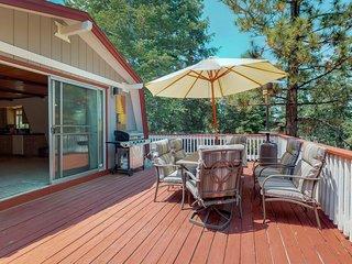 NEW LISTING! Rustic home with huge deck, gas grill, and beautiful forest views!