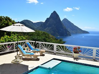 An enchanting oasis of tranquility: Villa Grand Piton. Great Soufriere location!