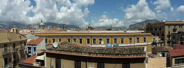 Panorama view from the balcony.