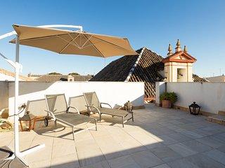 Campanilla. 1-bedroom, roof-terrace, Santa Cruz