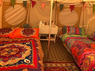 Mad Hatters Campsite & Glamping Tent 12