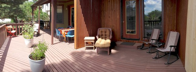 You'll want to spend a lot of time outdoors on the huge deck chillin' and grillin'.