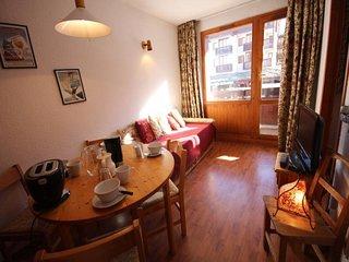 Appartement 2 pièces pour 4 personnes situé à Val d'Isère, skis aux pieds et à 5