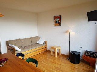 Grand studio cabine agréable 4 personnes à Arc 1600 au pied des commerces et pro