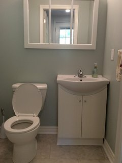 Powder room on main floor newly renovated in 2018