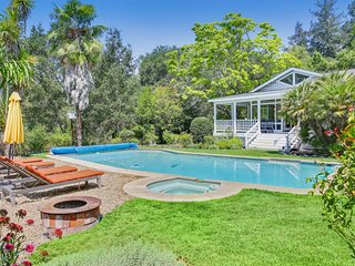 NEW LISTING! Wonderful estate with private pool & hot tub! Wine tasting nearby!