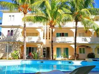 Our island home- Ground floor villa 5 mins walk to beach and  shops