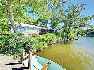 Classic 4BR Summer Home on Oyster Pond – Private Dock & Boat Fleet