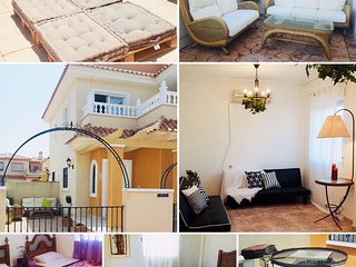 2 Double Bedroom, 2 Bathroom Villa with Roof Terrace and Pool -  Sleeps 6