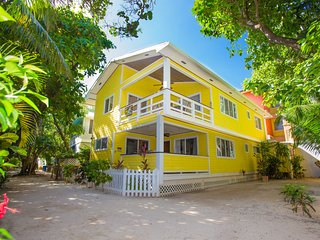 Ocean view with roof-top deck on West Bay Beach - A/C Included!