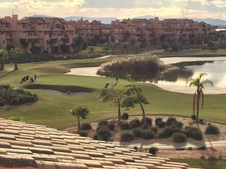 View from the rear and roof balcony. Watch the golfers go by often looking for their balls in lake.