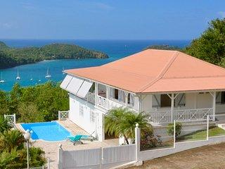 Villa de l'anse bleue : piscine et vue mer