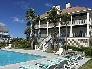 Ocean Escape on Isle of Palms | Oceanfront home with pool & beach access