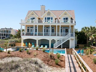 Ocean Paradise on Isle of Palms ~ OCEAN FRONT, Private Pool & Beach Access