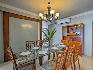 Bring your delicious meals over to the 8-person dining table.