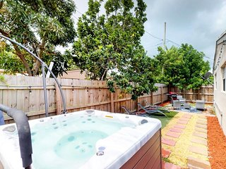 NEW LISTING! Charming, dog-friendly home w/hot tub & backyard -drive to beach