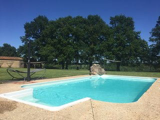 House in a quiet country setting with heated swimming pool