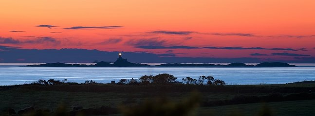 Sunset over the lighthouse