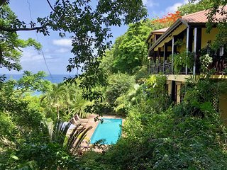 VILLA POMME D'AMOUR  Upper Level of Guest Villa 3 minute walk to a secluded cove