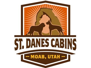St Dane's Cabins, 'Big Horn' log cabin, located just south of downtown Moab.
