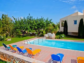BEAUTIFUL VILLA IN RETHYMNO 4 BEDROOMS WITH SEA VIEW AND PRIVATE SWIMMING POOL