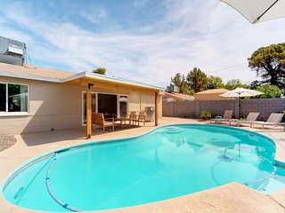 NEW LISTING! Dog-friendly, newly remodeled mid-century home w/pool, outdoor fire