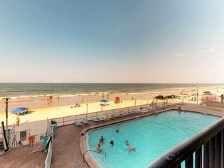 NEW LISTING! Oceanfront Daytona Inn beach condo w/ shared pool overlooking beach