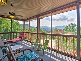 NEW! Elegant Bryson City Home w/Hot Tub & Mtn View