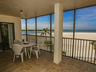 2/2 beachfront condo at south end of island