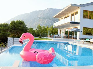 Villa Yanko with sea and mountain view,  great heated infinity pool