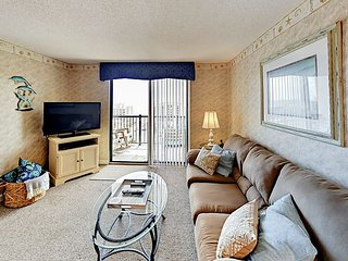 3BR Ocean-View, 10th Floor Condo - Steps to the Beach & Amusement Park