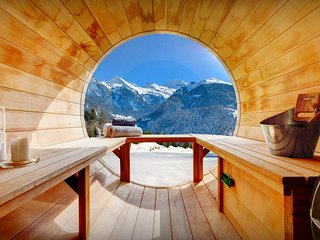 4*  Stunning views from sauna at this splendid Alpine chalet - OVO Network